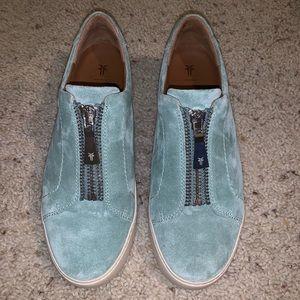 Frye Suede Zipper Shoes